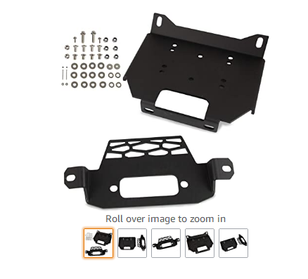 Winch Mount Plate Bracket Kit Compatible with Polaris RZR XP 1000 RZR900 2014-2018 General 1000 2016-2018 Replace Part Number 10