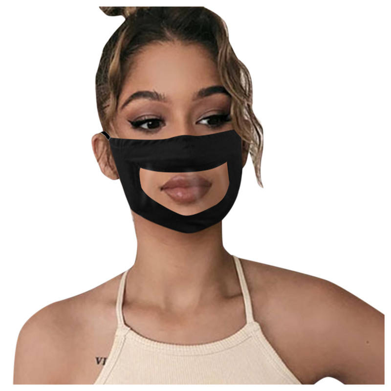 Adult Transparent FaceMask with Clear Window Visible Lip Cartoon Theme Nose Maskes The Deaf And Hard Of Hearing
