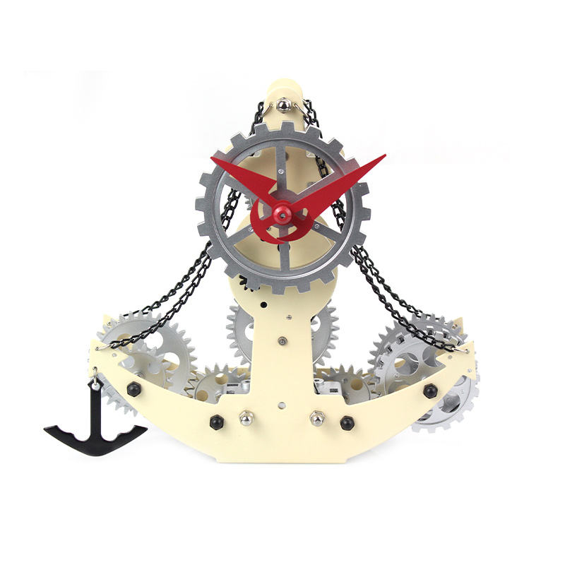 Gear Clock Wall Mounted Home Decor Mechanical Quartz Funny Bedside Table Clock Small Pirate Ship Clock For Gift