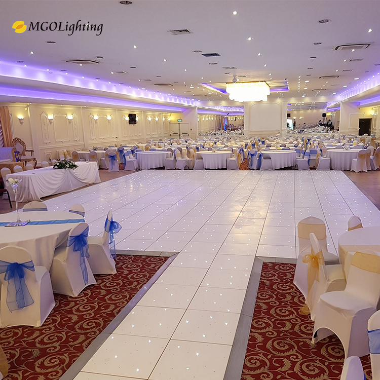 Acrylic Floor Panels Wedding RGB Illuminated Portable Disco White Starlit Star LED Dance Floor With Light