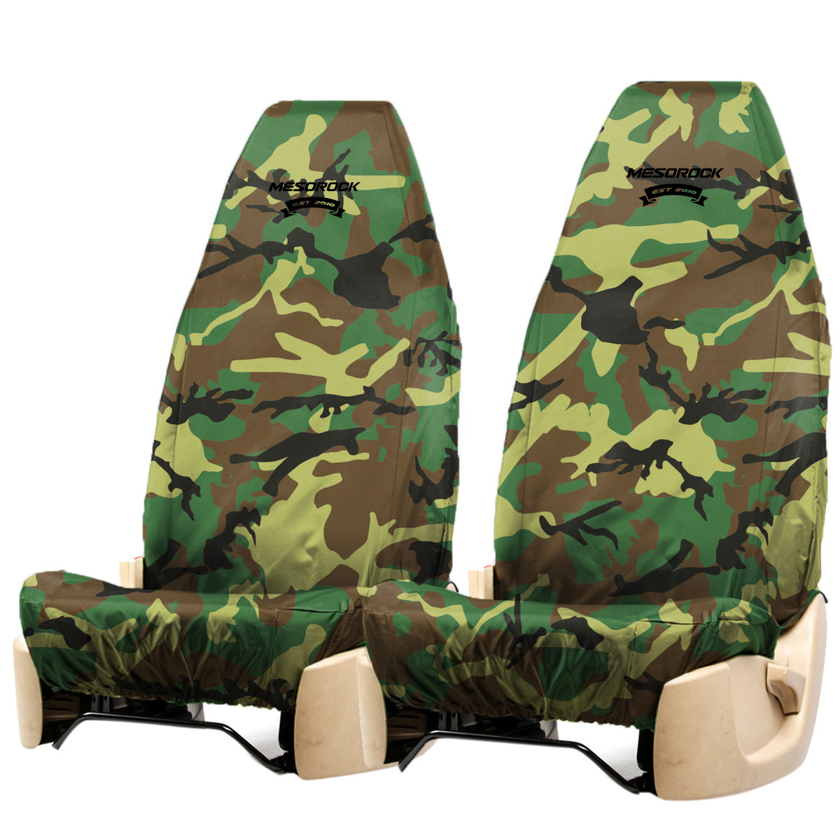 Waterproof Military Camouflage Cool Style Universal Car Seat Cover Fit for Vehicles, Sedan