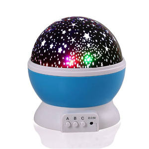 Led Moon Star Draaiende Romantische Ontspannen Moo Plafond Projector Baby Nursery Slaapkamer Kinderen Kamer Christmas Gift led night light