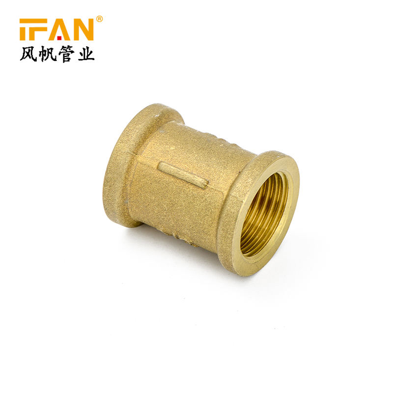 Ifan wholesale yellow color standard pressure pex pipe fitting brass fiiting female adapter