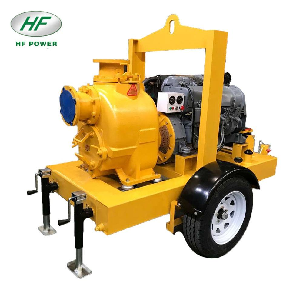 6 inch deutz diesel centrifugal sewage self priming pump