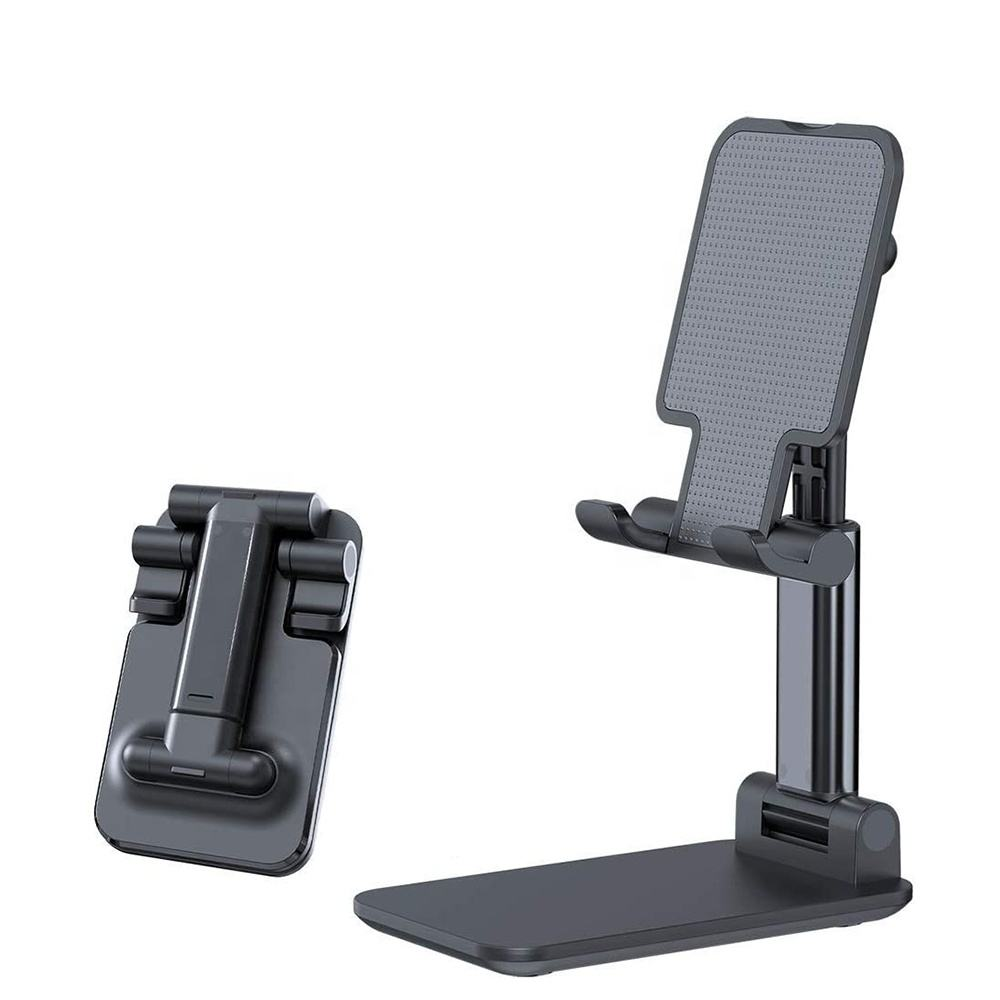 2020 Brand New Foldable Universal Tablet Holder Height Adjustable Aluminum Mount Compatible Cell Phone Stand with All Smartphone