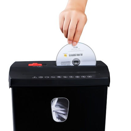 Strip Cut Paper & CD Shredder office shredding machine