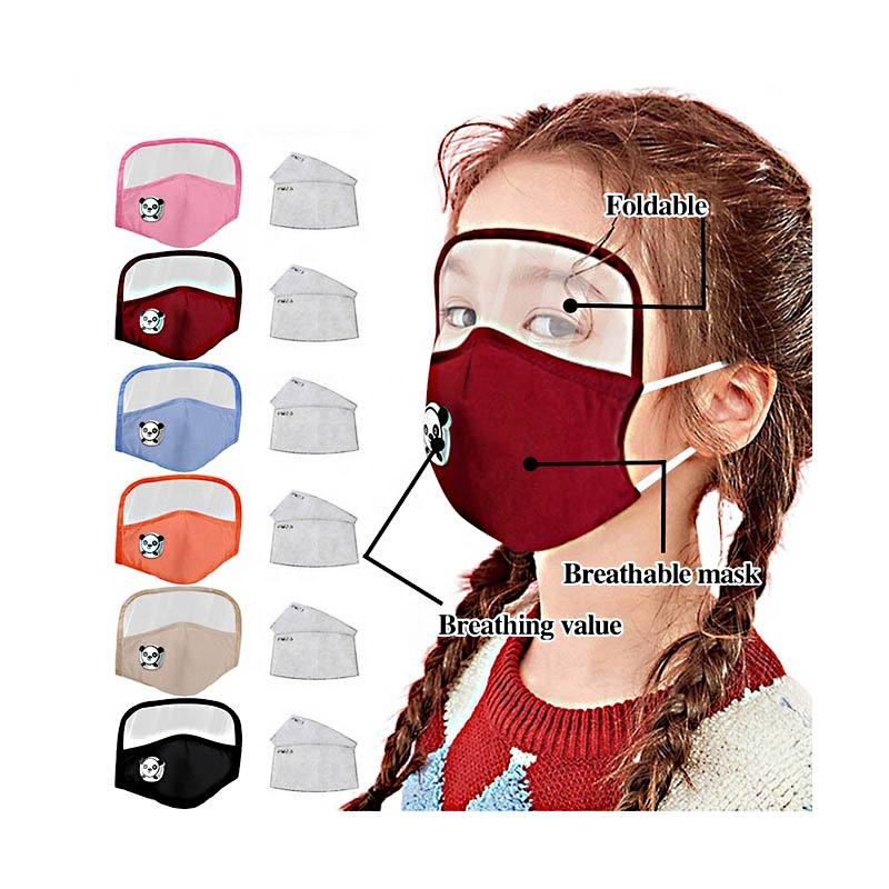 Child mask Wholesale Dust Proof Custom Printed Designer Cotton Halloween Party Mouth Face Mask With Valve Filter For Kids