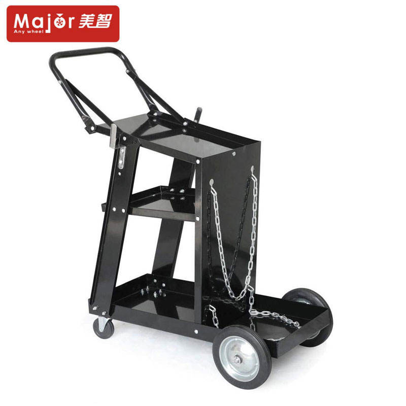 Metal plant 4 drawer welding service tool trolley cart with 2 wheels