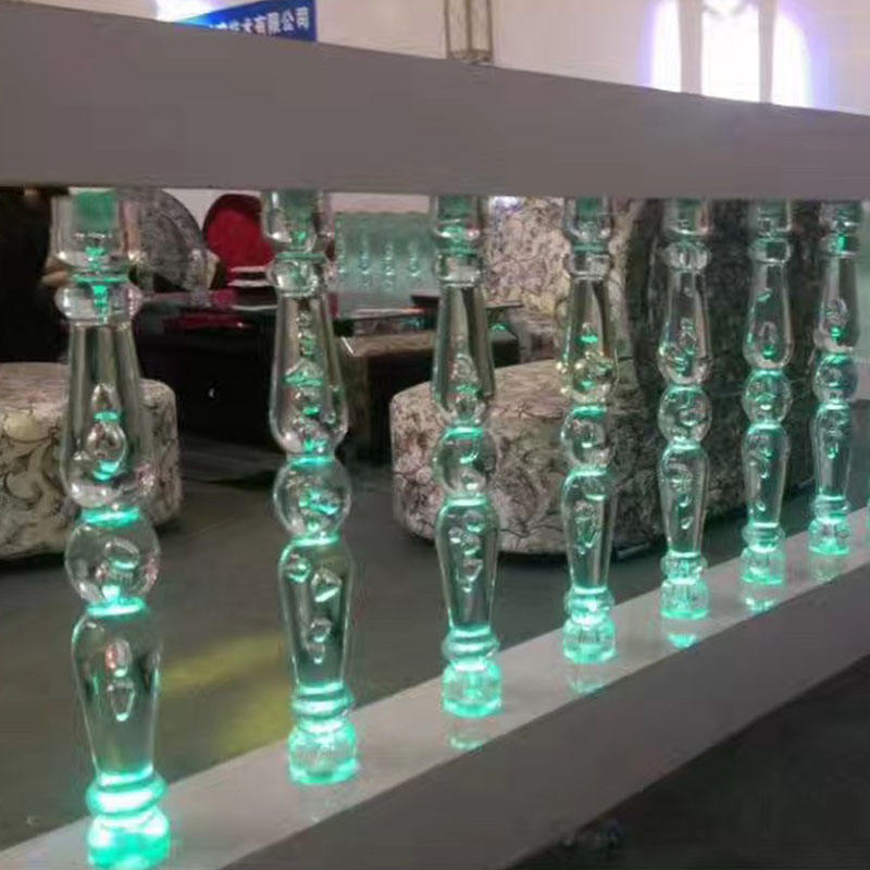 Clear Acrylic Plexiglass Handrail Balustrade Balcony in Factory Price Acrylic Stair Railing