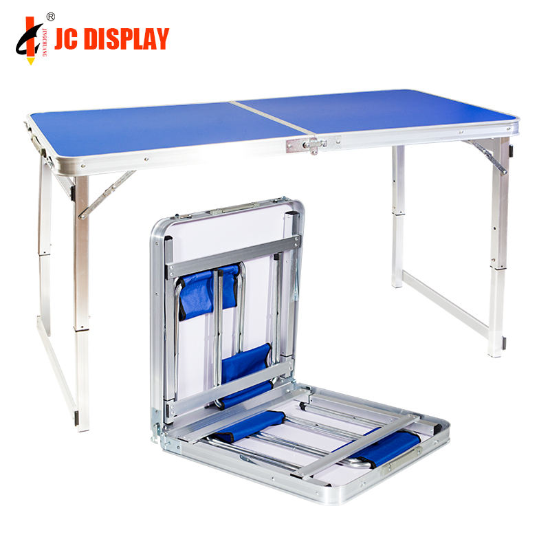 No MOQ Easy Movable 60cm Blue Portable Table