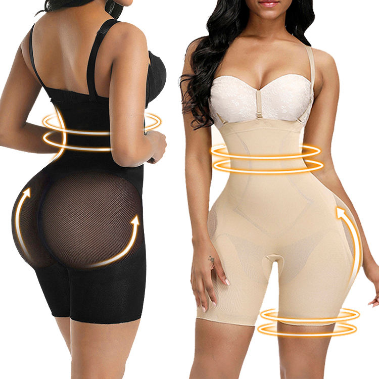 Best Selling High Quality Seamless Two Shoulder Straps Body Shaper Comfortable Breathable Weight Loss Body Shapewear For Women