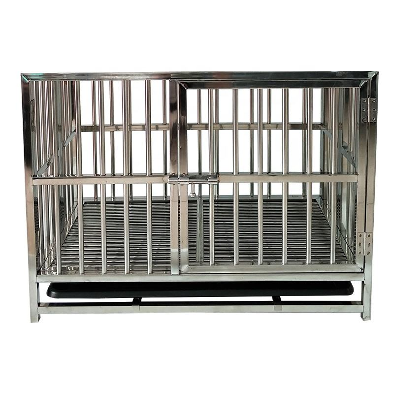 Ultralight Chew Proof Stainless Steel Stackable Heavy Duty Dog Crates and Cages for Dogs on Sale Affordable