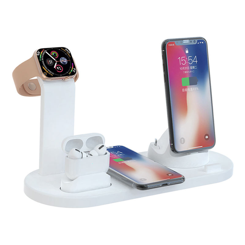 One-Stop Service [ Charging Station ] 3 In 1 Wireless Charger Charging Stand Docking Station For IPhone Stand For Apple Watch Wireless Charging Case For Air Pods