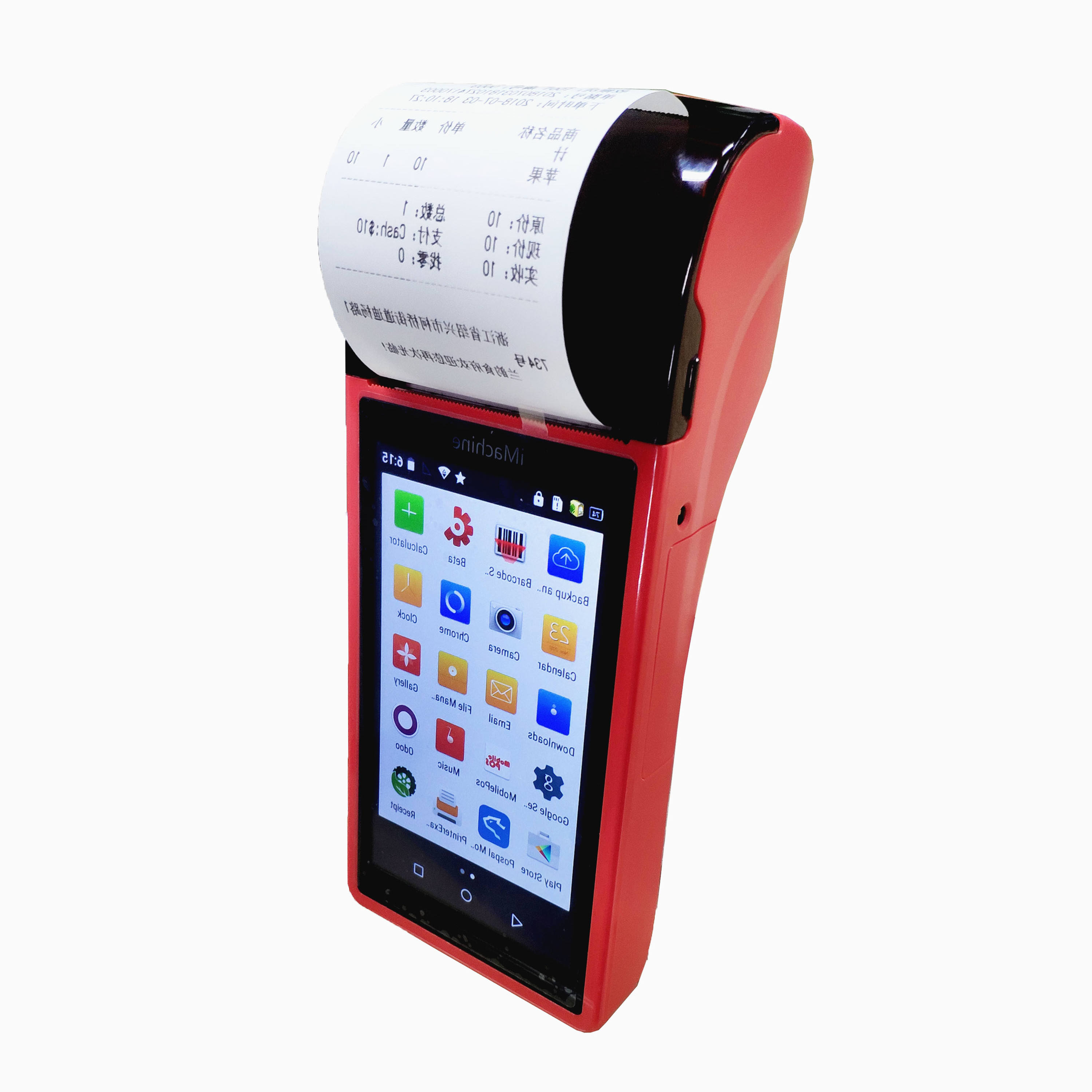 Portable Billing handheld POS terminal mobile Touch Screen Pos with printer for Retailers and restaurants