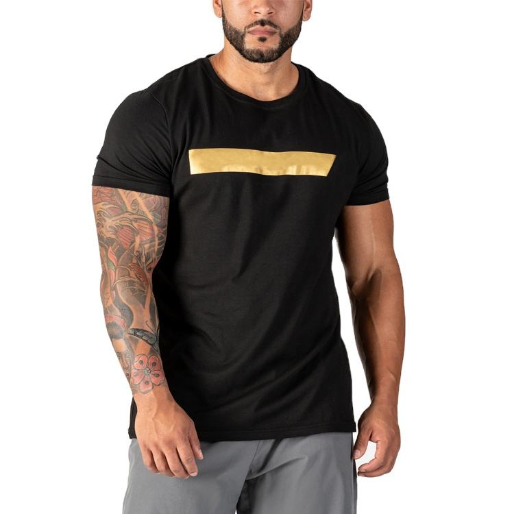 Wholesale custom spandex muscle dry fit running fitness workout sport gym t-shirt t shirt men