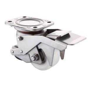 SS Leveling Caster Wheels Leveling Castor Stainless Steel with Nylon Wheel Tread