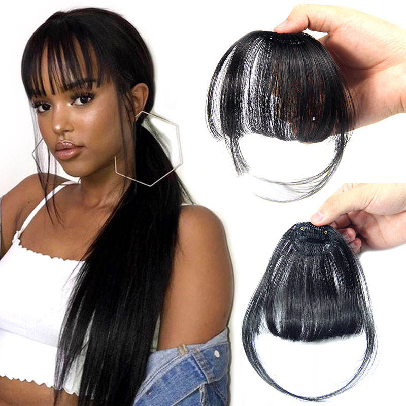 Cheap clip in bangs HUMAN hair bangs fringe, clip in fringe bangs human hair, clip in extension hairpiece fringe human hair