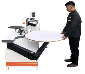 Manual curve wood line edging machine pvc abs special-shaped edge banding machine