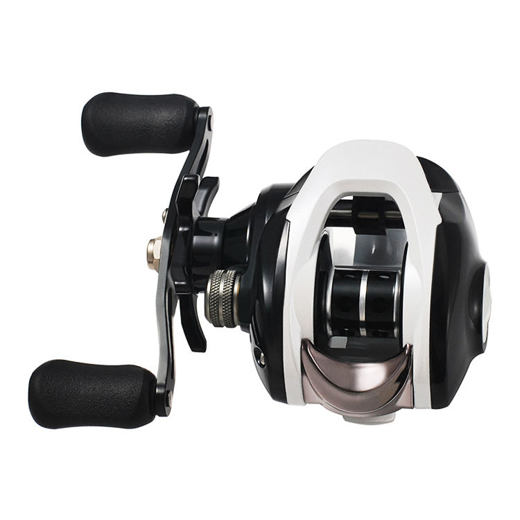 Newbility nylon body metal spool magnetic and centrifugal dual brake system metal handle 17+1BB fiahing reels