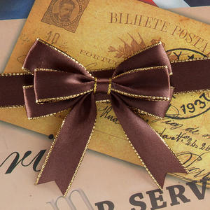 Low Price Wholesale Ribbon Bow With Elastic Loop ,Gift Packing Ribbon Bow