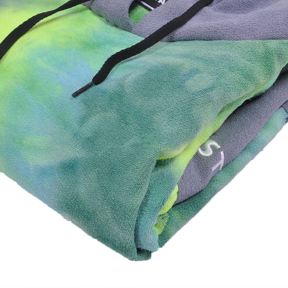 low moq custom towel poncho compressed quick dry microfiber hooded surf poncho towel