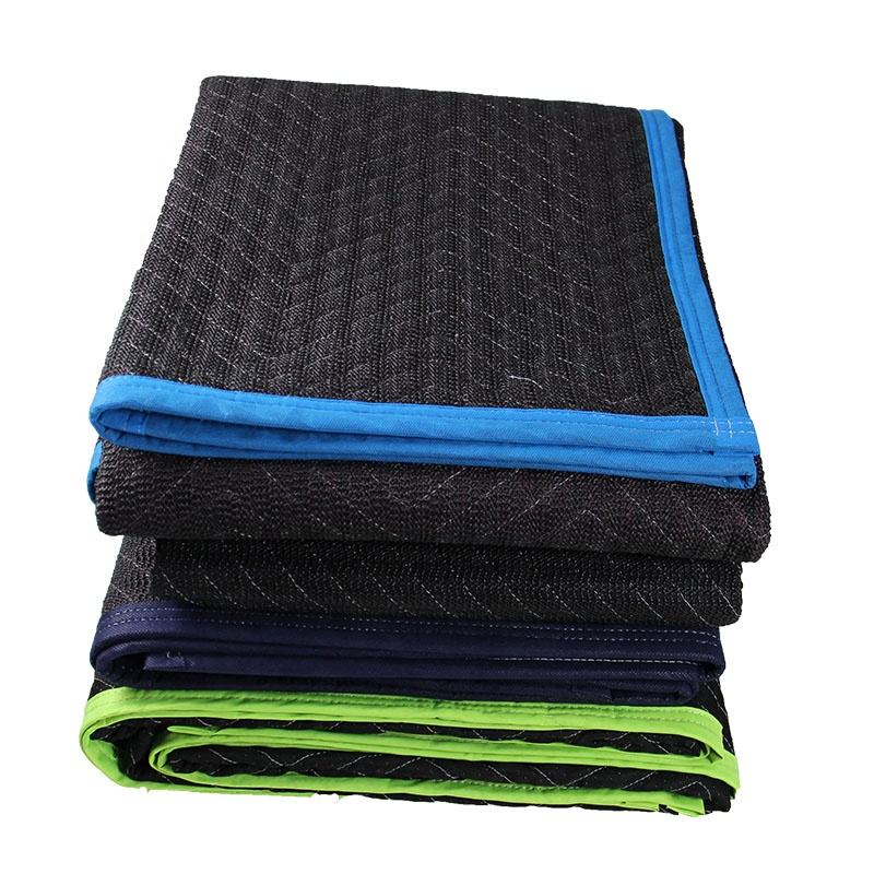 Recycled Cotton Transportation Furniture Protection 72x80 Moving Blankets