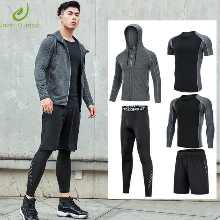 Wholesale Workout Wear Clothing men Clothes 5 pieces Yoga Set Fitness