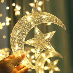 LED String Light Star/moon-shaped Decorative Lamps For Curtain, Background Wall, Home Decoration