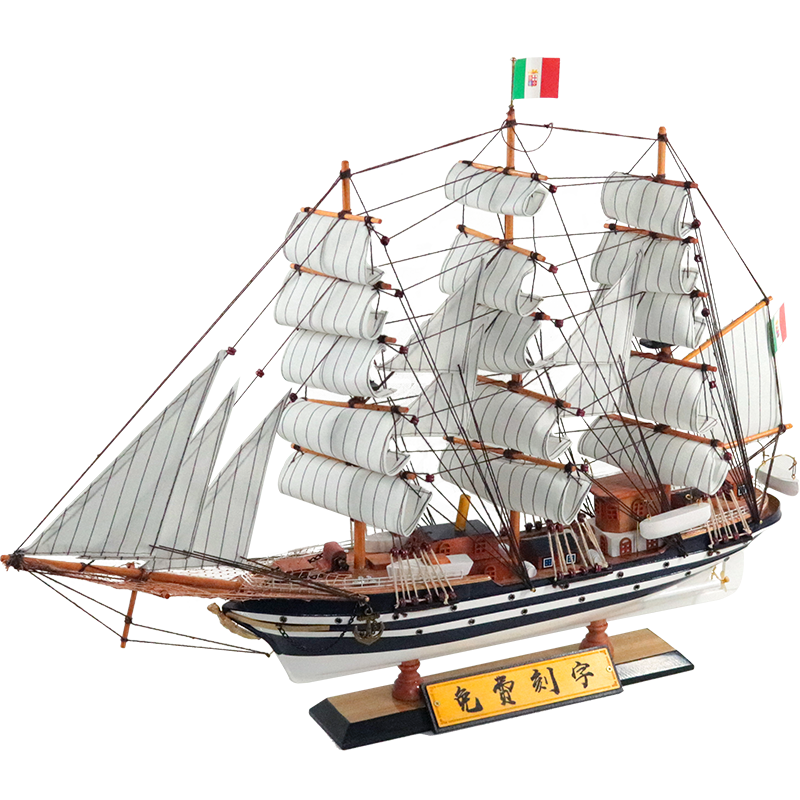 Amerigo Vespucci Famous Italian ships Wooden sailing boat model ornaments European style decoration Customized nameplate Italy