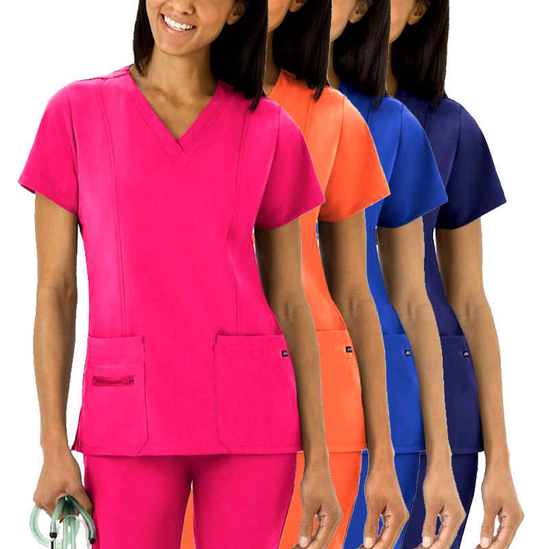 Top Quality Private Label Nursing Scrubs Hospital Uniforms Sets Short sleeve jogger Figs Designer Custom Nurse Scrubs uniform