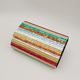 Women'S Stitched Striped Hard Box Evening Acrylic Clutch Hand Bag