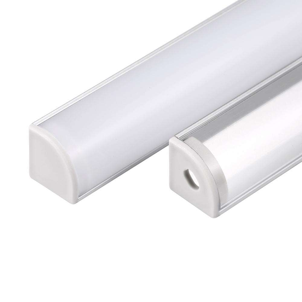 SHENGXIN Black U shape tube T step mounted surface recessed anodized aluminium stair led channel profile light