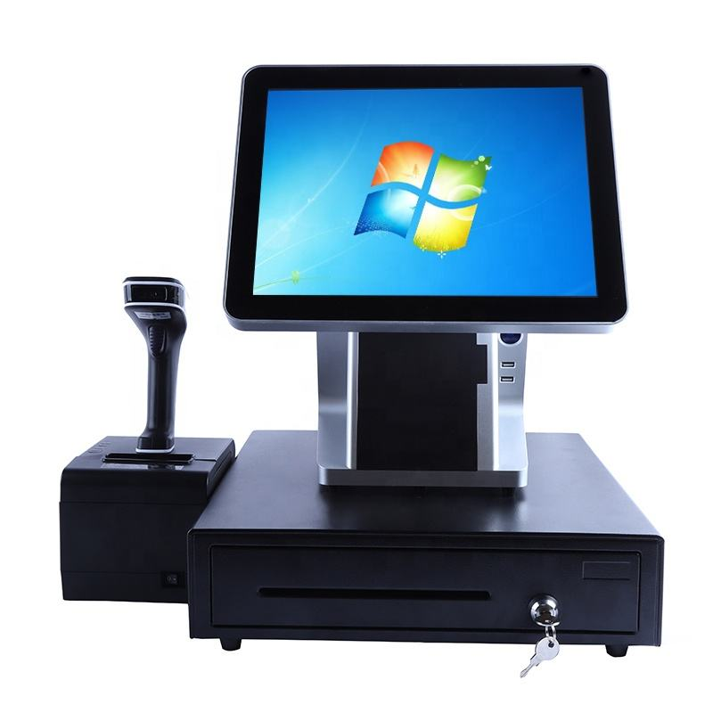 2 년 Warranty POS System All in One Touch Screen 점 의 \ % Sale 장치 와 내장 프린터