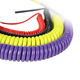 Cable PU Coating Colorful Elastic Coil Cord Flexible Spring Sipral Cable For Industrial Automation Machinery Equipment