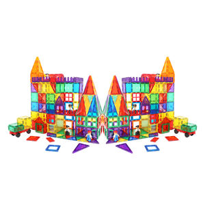 CPSC  CE  EN71  ASTM unique design 100 piece magnetic tiles building set for kids 3  years old