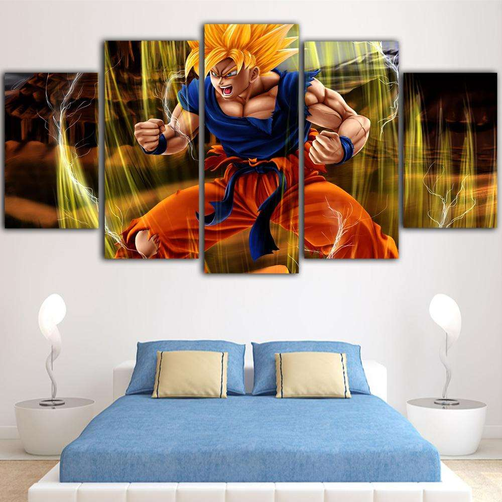 custom 5 Piece Posters And Prints Picture Salon Anime Duvar Tablolar Waterproof Ink Canvas print wall Art New Hot Sale