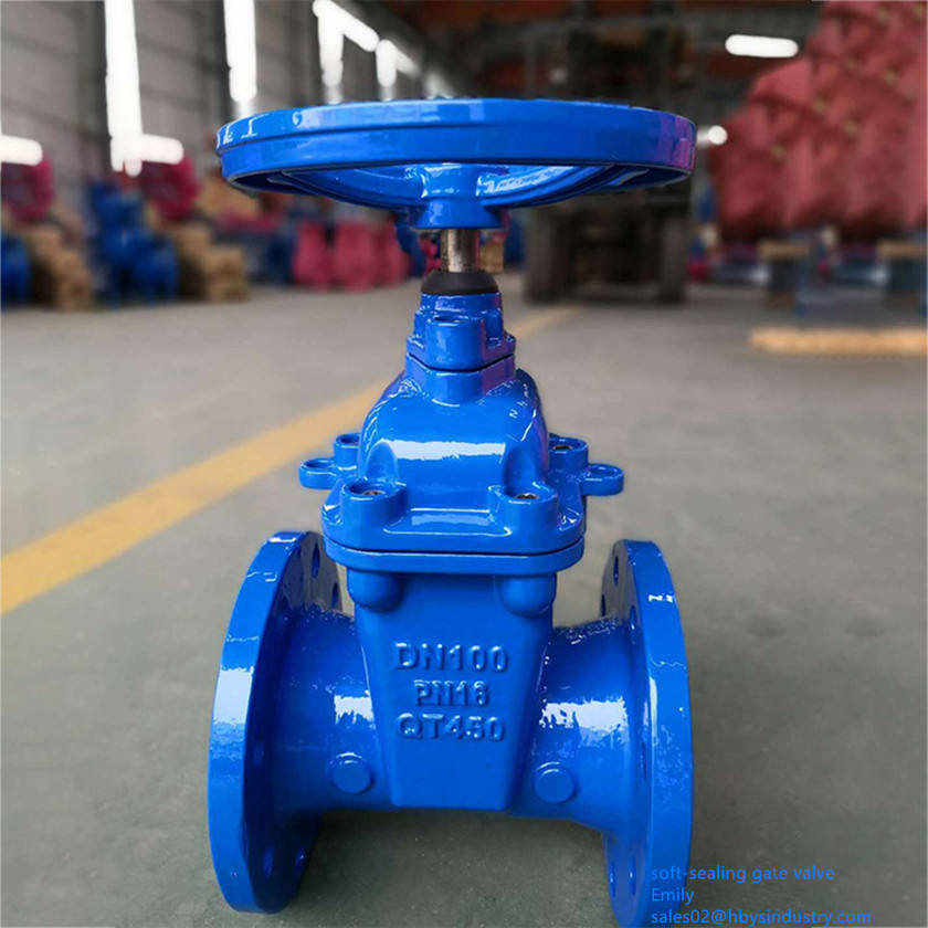 Din F4 EPDM NBR Wedge Flexible Disc Manual Gate Valve