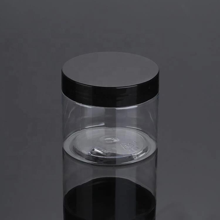 50ml 100ml 120ml 150ml 200ml 4oz cosmetic packaging clear pet plastic cream jar with plastic lid