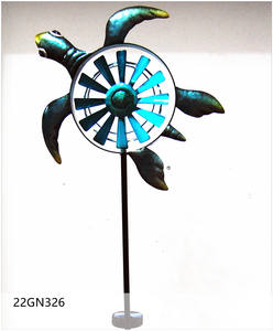 Outdoor Garden Op Zonne-energie Led Metalen Windmolen Tuin Wind Spinner