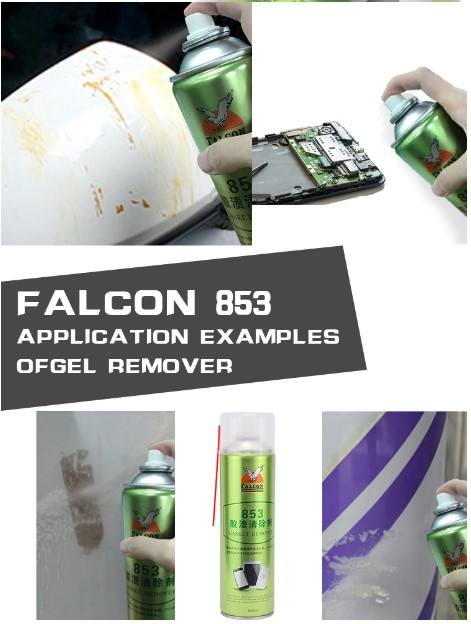 Screen Cleaner Spray Falcon 853 Cleaner Electronic Mobile TV Screen Glue Sticker Remover Spray Agent Strong Cleaning Hard Residue Cleaning