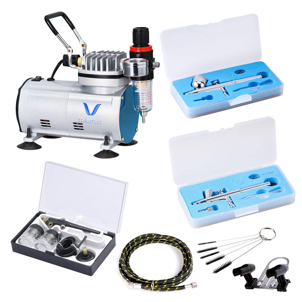 LinhaivetA cake decorating airbrush compressor set nails air brush kit machine