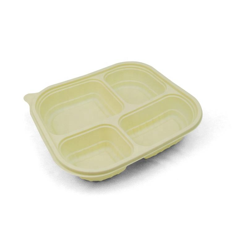 Hot Selling Takeaway Biodegradable Corn Starch Lunch Box Food Container