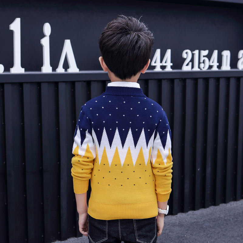 Pullover Boys Children Sweaters Crew Neck Boys' Knitwear Pullover