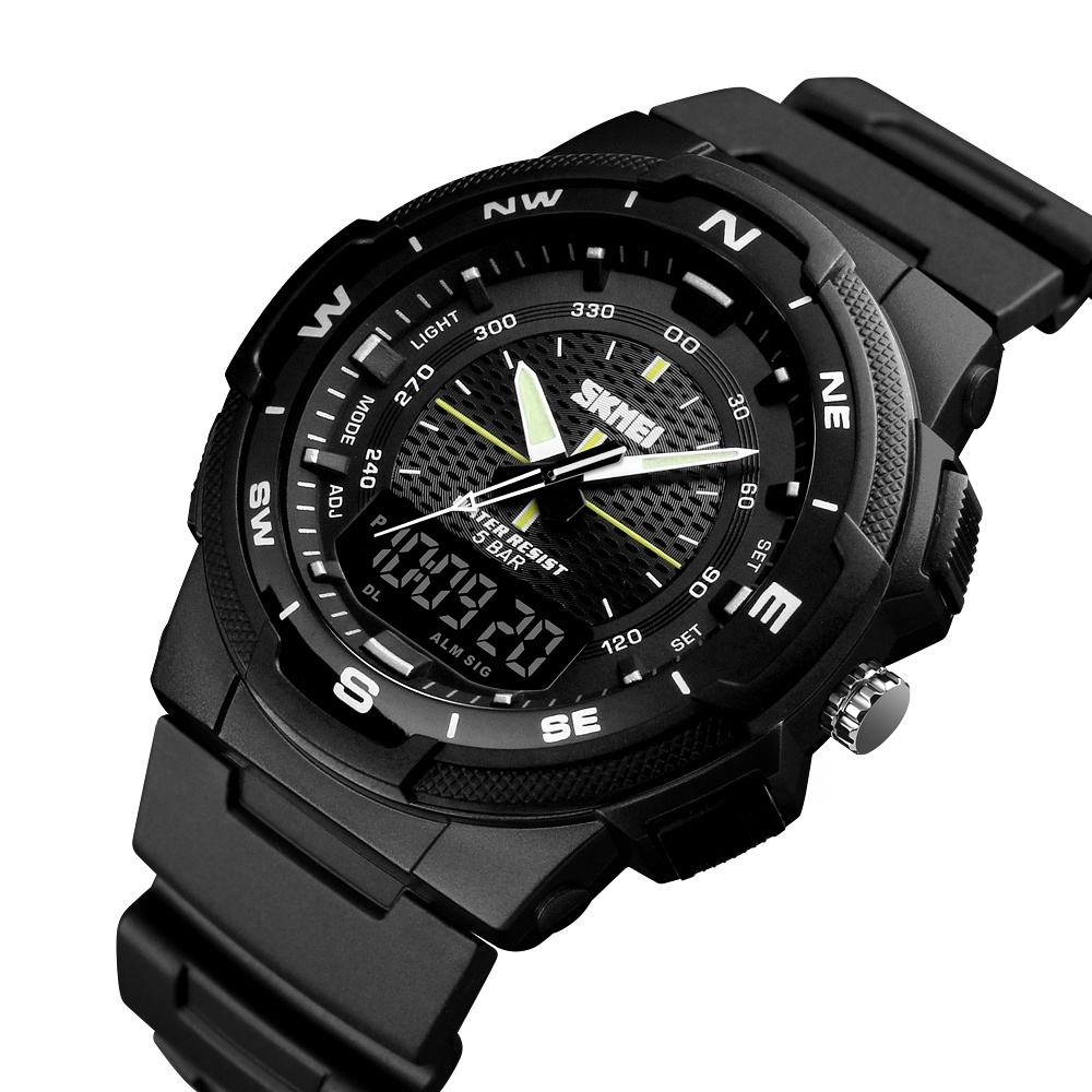 skmei 1283 top 10 waterproof men clock el luminous mens sports military watch orologio uomo