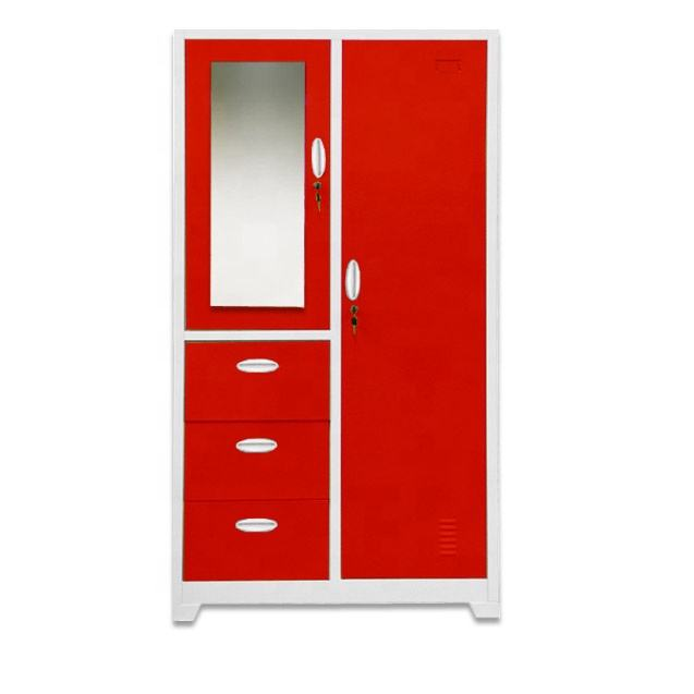 New product top quality modern design bedroom/commercial furniture 3 drawer locker/wardrobe with mirror