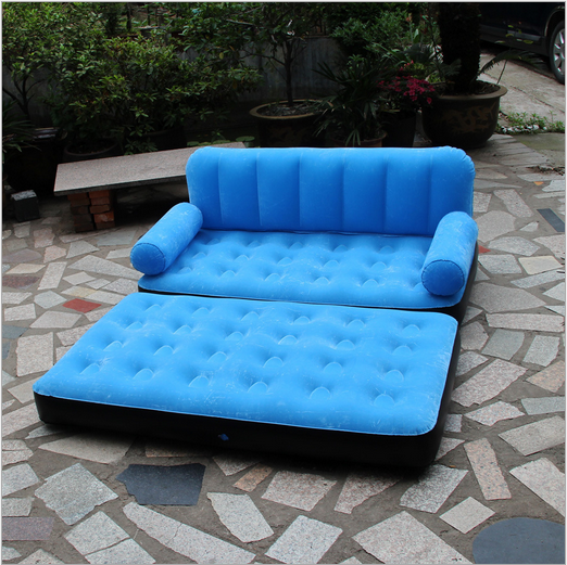 Modern indoor/outdoor/Water pool Inflatable air lounge sofa chair Customized flocking plastic inflatable furniture Cheap