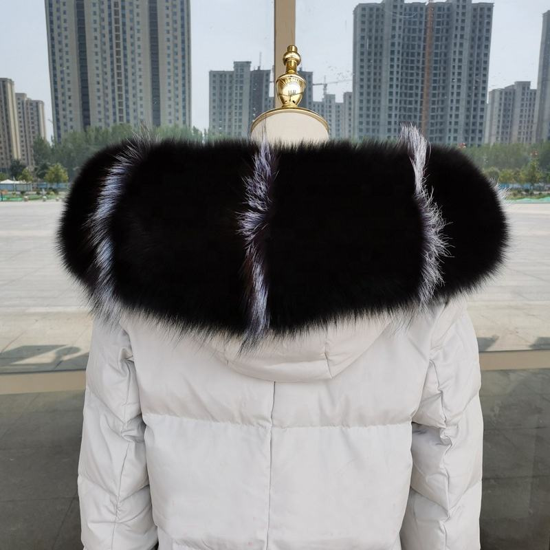 Luxe Pull through Style Genuine Fur Scarf High Quality Real Fox Fur Collar