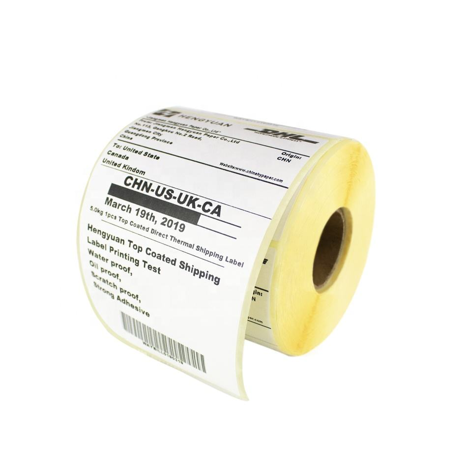 100X 4x6 Fanfold Transfer Adhesive Perforated Labels For Zebra Printer
