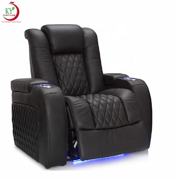 JKY Furniture Morden Adjustable Living Room Cinema Home Theater Power Electric With Usb Recliner Chair