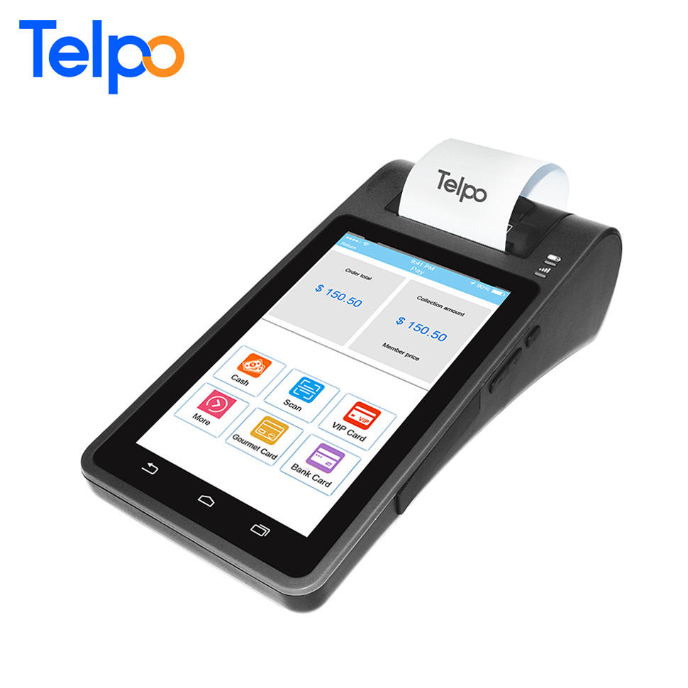 OEM/ODM TPS570 3G desktop Android 7 inch Tablet Pos Terminal with Integrated Printer